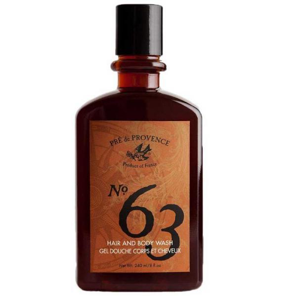 Pre de Provence No.63 Mens Hair and Body Wash - 8 Ounce
