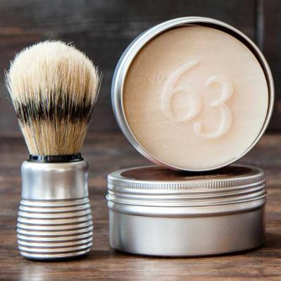 Pre de Provence No.63 Mens Shea Butter Shave Soap and Brush