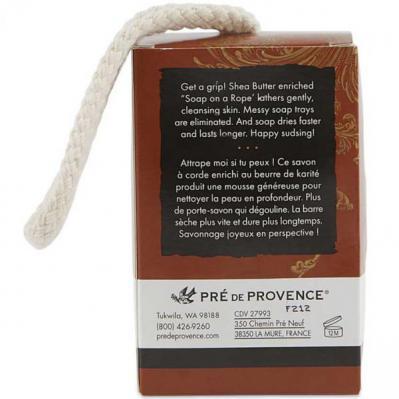 Pre de Provence No.63 Mens Shea Butter Soap on a Rope 200 Gram Bar Back