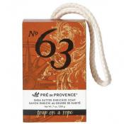 Pre de Provence No.63 Mens Shea Butter Soap on a Rope 200 Gram Bar