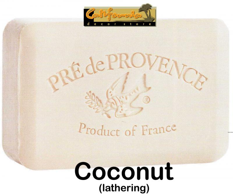 Pre de Provence Soap Coconut 150 gram lathering Bath Shower Bar