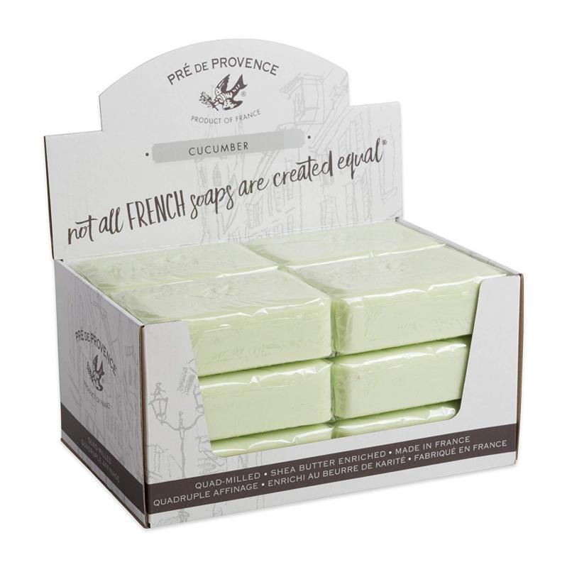 Pre de Provence Soap Cucumber 250 gram Bath Shower Bar Case of 12