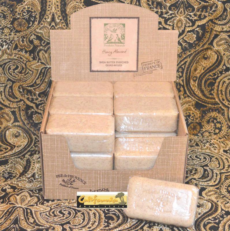 Pre de Provence Soap Honey Almond 150 gram Bath Shower Bar Case of 18