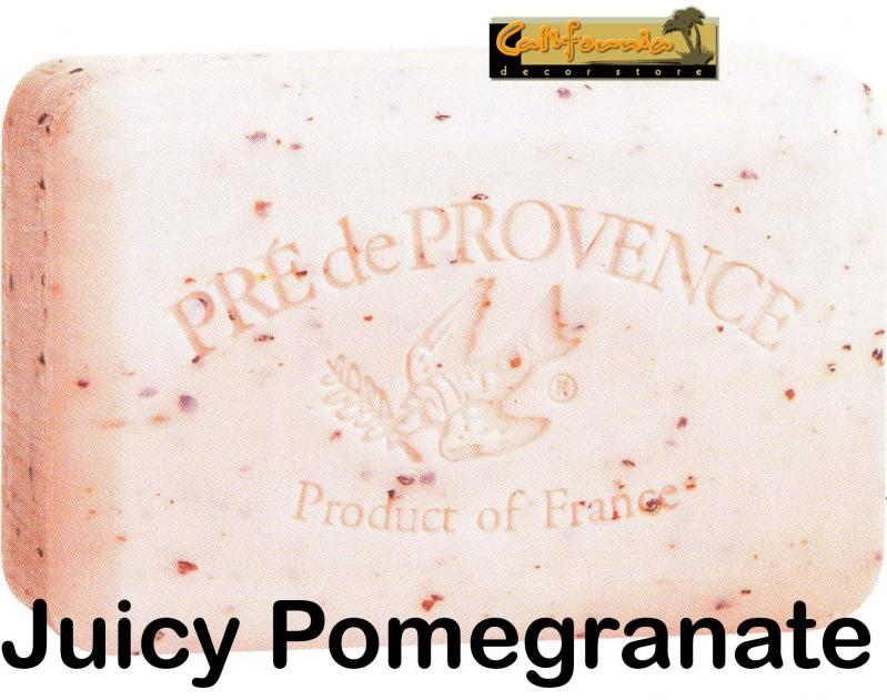 Pre de Provence Soap Juicy Pomegranate 250 gram exfoliating Bath Shower Bar
