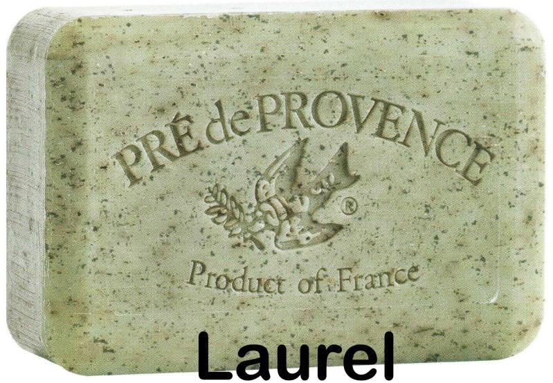 Pre de Provence Soap Laurel 250 gram exfoliating Bath Shower Bar