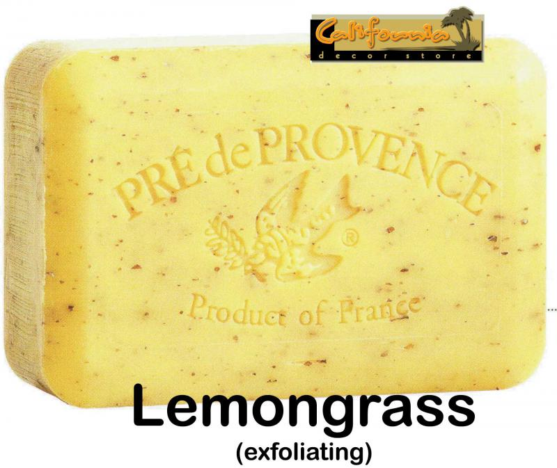 Pre de Provence Soap Lemongrass 250 gram exfoliating Bath Shower Bar