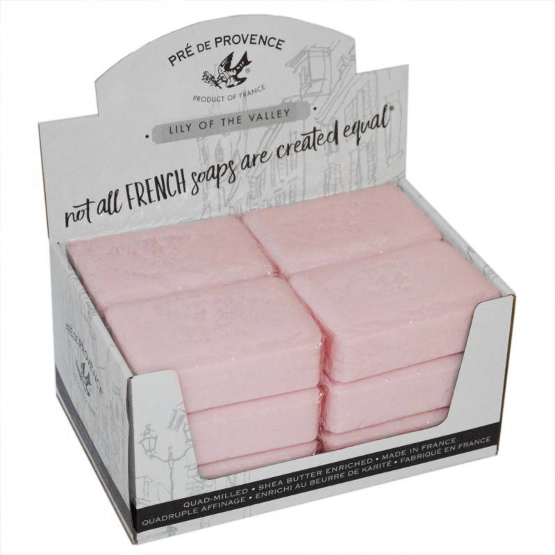 Pre de Provence Soap Lily of the Valley 250 gram Bath Shower Bar Case of 12