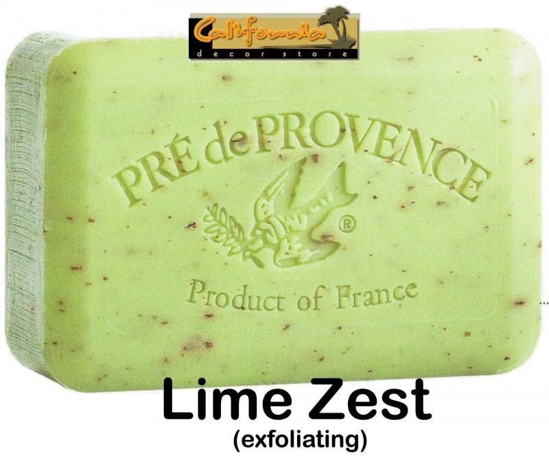 Pre de Provence Soap Lime Zest 250 gram exfoliating Bath Shower Bar