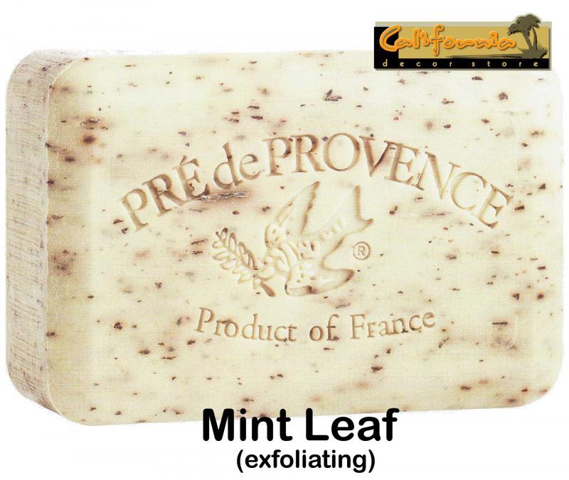 Pre de Provence Soap Mint Leaf 250 gram exfoliating Bath Shower Bar