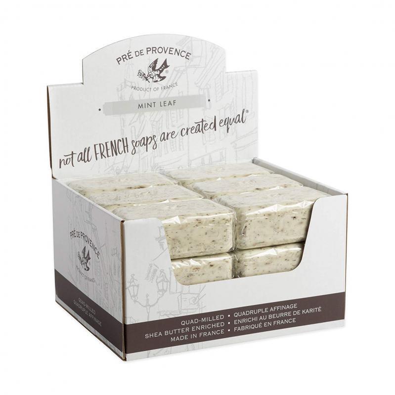 Pre de Provence Soap Mint Leaf 150 gram Bath Shower Bar Case of 18