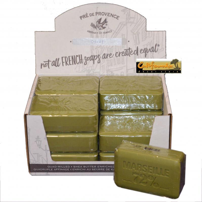 Pre de Provence Soap Marseille Olive Oil 250 gram Bath Shower Bar Case of 12