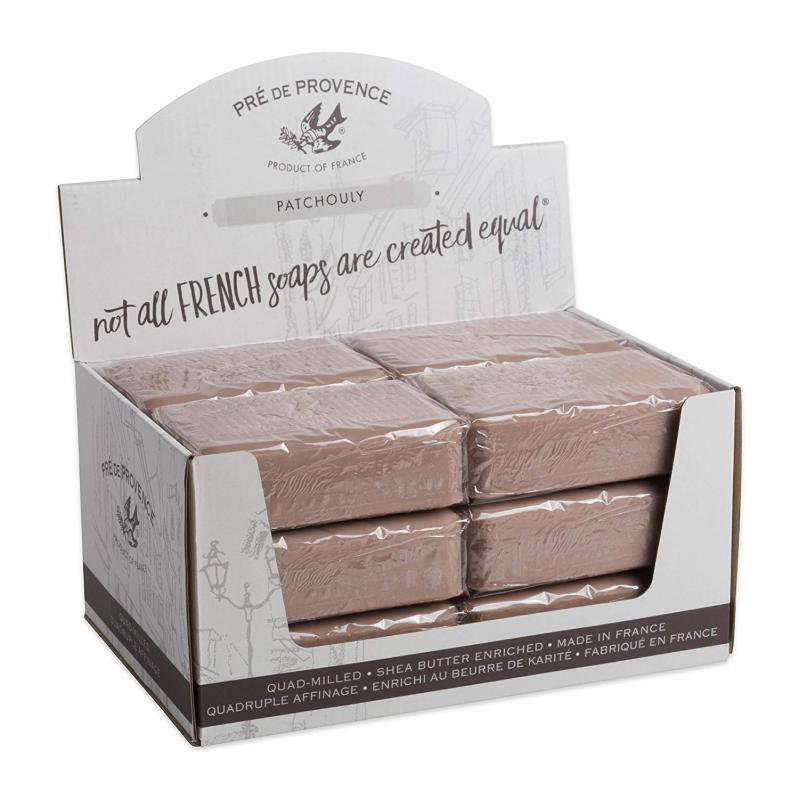 Pre de Provence Soap Patchouli 250 gram Bath Shower Bar Case of 12