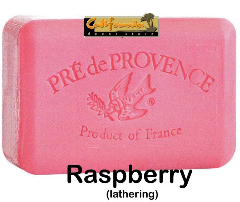 Pre de Provence Soap Raspberry 150 gram lathering Bath Shower Bar