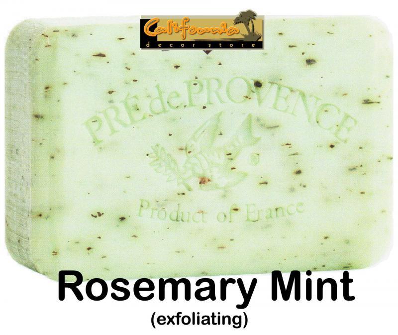 Pre de Provence Soap Rosemary Mint 250 gram exfoliating Bath Shower Bar