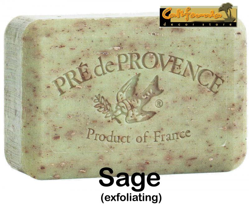 Pre de Provence Soap Sage 150 gram exfoliating Bath Shower Bar