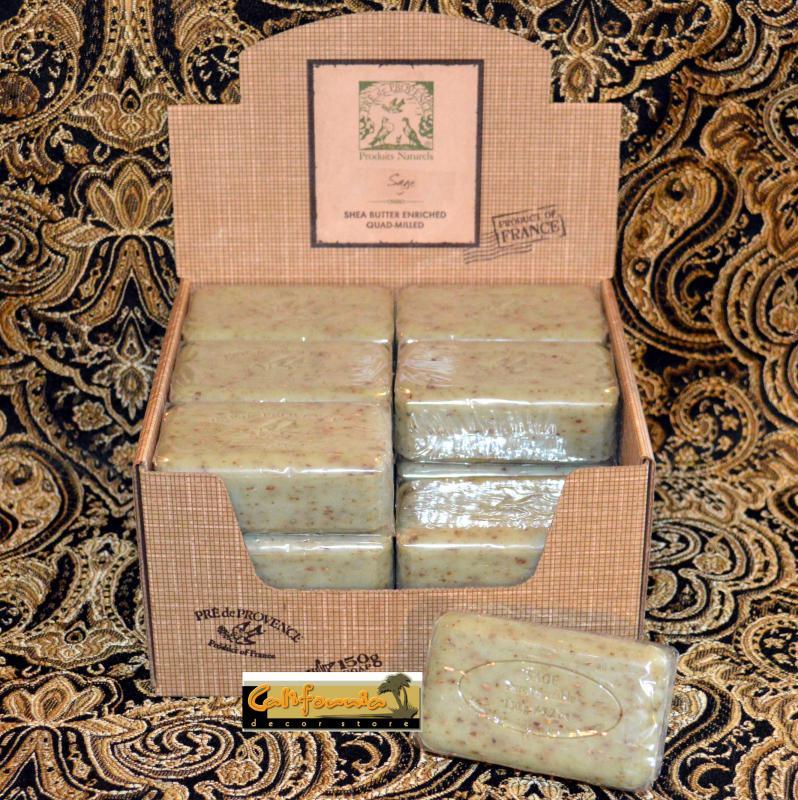 Pre de Provence Soap Sage 150 gram Bath Shower Bar Case of 18