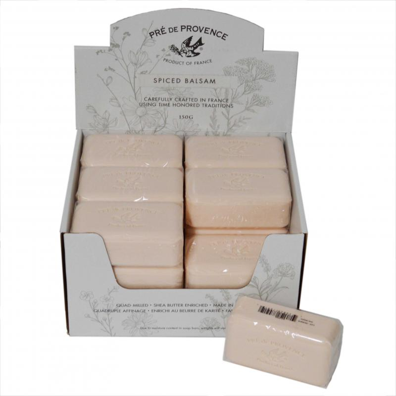 Pre de Provence Soap Spiced Balsam 150 gram Bath Shower Bar Case of 18
