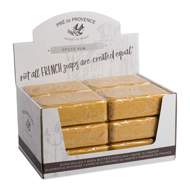 Pre de Provence Soap Spiced Rum 250 gram Bath Shower Bar Case of 12