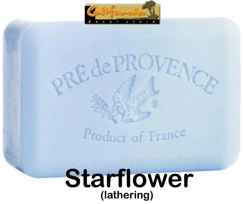 Pre de Provence Soap Starflower 250 gram lathering Bath Shower Bar