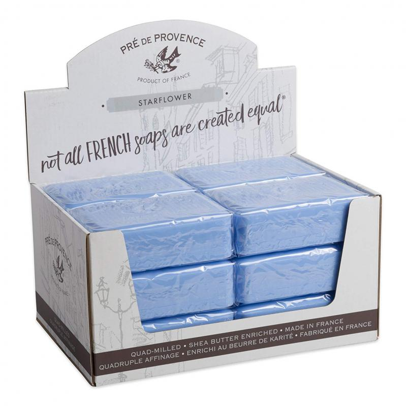 Pre de Provence Soap Starflower 250 gram Bath Shower Bar Case of 12