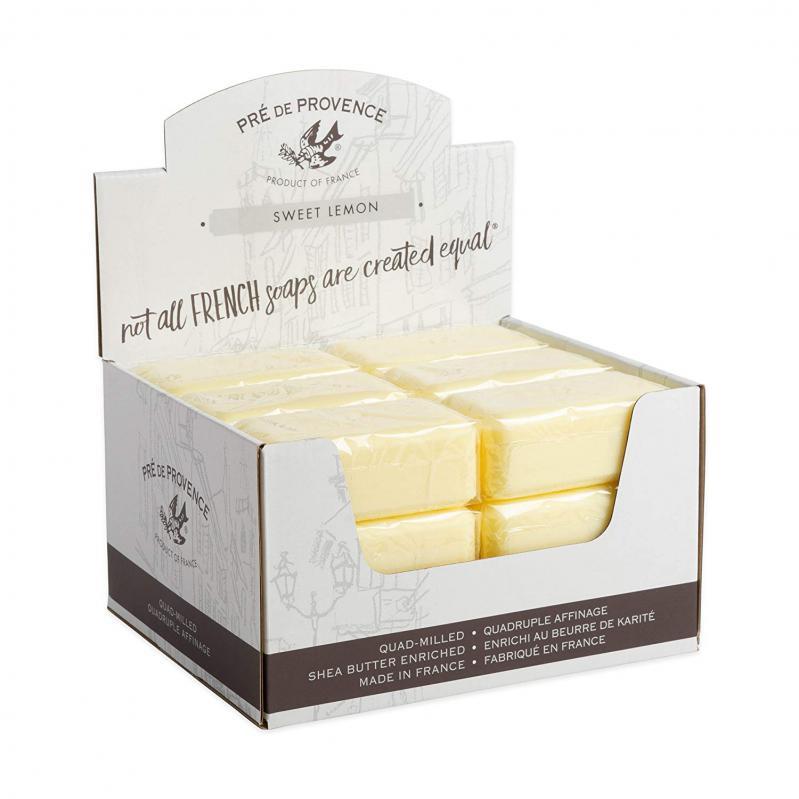 Pre de Provence Soap Sweet Lemon 150 gram Bath Shower Bar Case of 18