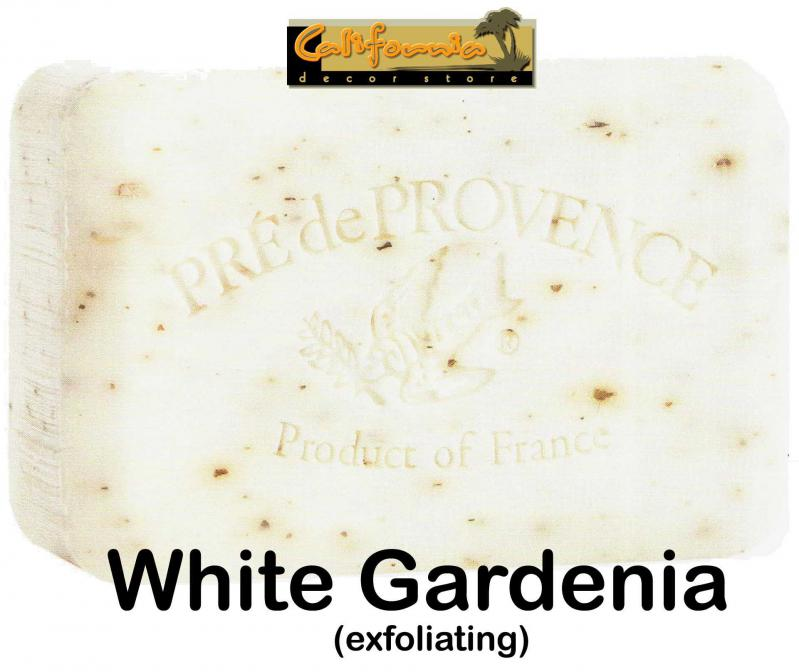 Pre de Provence Soap White Gardenia 250 gram exfoliating Bath Shower Bar