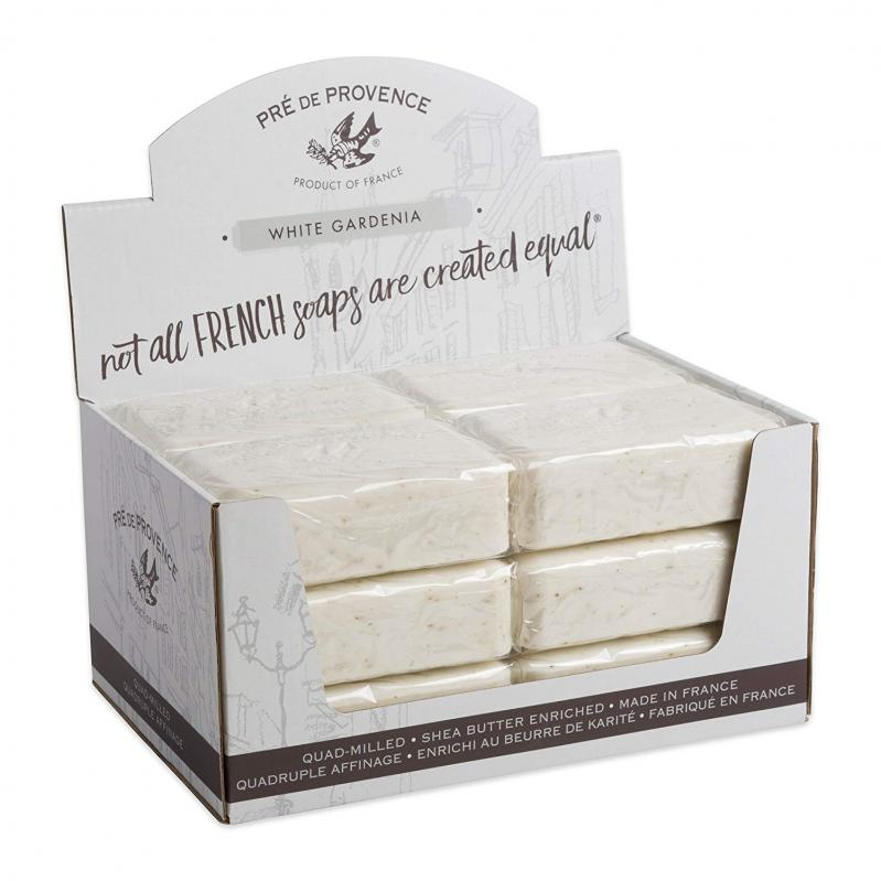 Pre de Provence Soap White Gardenia 250 gram Bath Shower Bar Case of 12