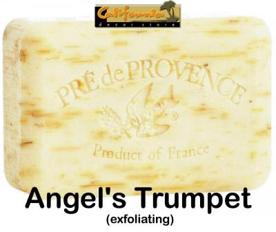 Pre de Provence Soap Angels Trumpet 250 gram exfoliating Bath Shower Bar