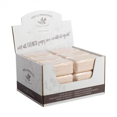 Pre de Provence Soap Coconut 150 gram Bath Shower Bar Case of 18