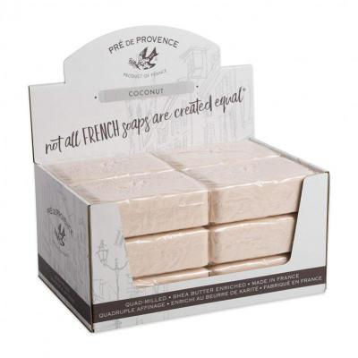 Pre de Provence Soap Coconut 250 gram Bath Shower Bar Case of 12