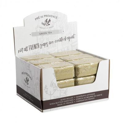 Pre de Provence Soap Green Tea 150 gram Bath Shower Bar Case of 18