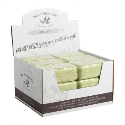 Pre de Provence Soap Lime Zest 150 gram Bath Shower Bar Case of 18