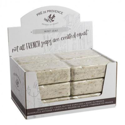 Pre de Provence Soap Mint Leaf 250 gram Bath Shower Bar Case of 12