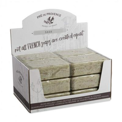Pre de Provence Soap Sage 250 gram Bath Shower Bar Case of 12