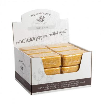 Pre de Provence Soap Spiced Rum 150 gram Bath Shower Bar Case of 18