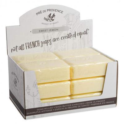 Pre de Provence Soap Sweet Lemon 250 gram Bath Shower Bar Case of 12