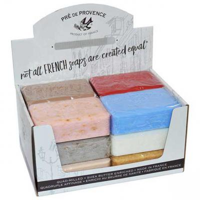 Pre de Provence Soap Assortment Pack 250 gram Bath Shower Bar Case of 12