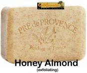 Pre de Provence Soap Honey Almond 250 gram exfoliating Bath Shower Bar