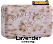 Pre de Provence Soap Lavender 250 gram exfoliating Bath Shower Bar