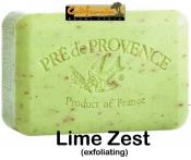 Pre de Provence Soap Lime Zest 150 gram exfoliating Bath Shower Bar