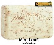 Pre de Provence Soap Mint Leaf 250 gram exfoliating Bath Shower Bar