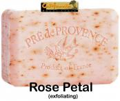 Pre de Provence Soap Rose Petal 150 gram exfoliating Bath Shower Bar