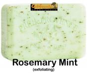 Pre de Provence Soap Rosemary Mint 150 gram exfoliating Bath Shower Bar