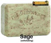 Pre de Provence Soap Sage 250 gram exfoliating Bath Shower Bar