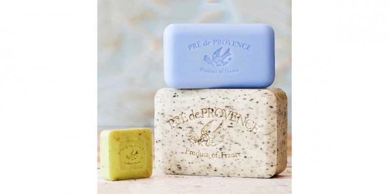 Pre de Provence Soap Bars in 25, 150, and 250 gram sizes