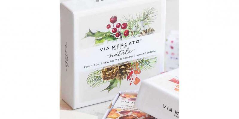 Via Mercato No.1 to No.9 200 gram soap bars and cases of 12 at California Decor Store