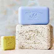 Pre de Provence Soap Bars in 25, 150, and 250 gram sizes