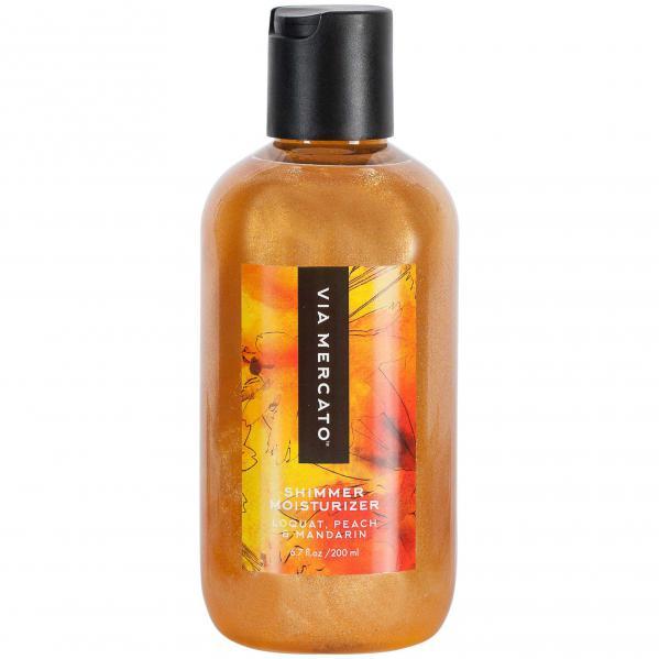 Via Mercato Bella Shimmer Moisturizer Loquat Peach Mandarin Body Lotion