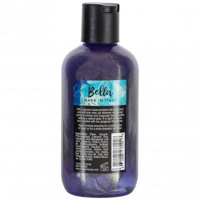 Via Mercato Bella Shimmer Moisturizer Coconut Goji Berry Black Currant Body Lotion Back Label