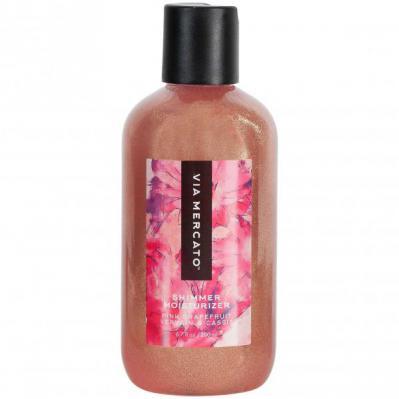 Via Mercato Bella Shimmer Moisturizer Pink Grapefruit Vervain Cassis Body Lotion